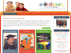 Milestone Ecd Website Designed by Kamoso Web Group